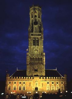 Bell Tower in Brugges, Belgium. You have to climb to the top for a 360 degree view of the area and a listen at the bells.