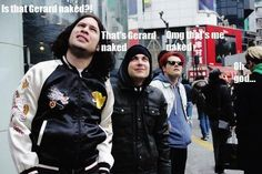 Hahaha Mikey. Frank's like, 'oh yeah, I know that sight'