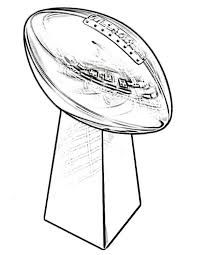 superbowl coloring pages for kids | 47 Best super bowl trophy coloring pages images | Super ...