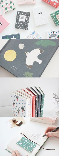 Have you ever thought that all the notebooks used for school or work were boring and all the same with another? Well, time to think otherwise! They can be as cute and as fun like the Livework Hardcover Lined Notebook! This lovely notebook features coated hardcover that protects your notebook from getting dirt or crumpled. Plus, the hardcovers have adorable illustrations which make this notebook so charming and irresistible! >_< This is the notebook that you'll want to bring with you…
