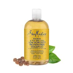 Are you looking for products for low porosity hair? Read about the Shea Moisture low porosity protein-free line to see if it's the right fit for your hair. Low Porosity Hair Products, Hair Porosity, Etude House, Sulfate Free Clarifying Shampoo, Tee Tree Oil, Tea Tree Oil Shampoo, Deep Cleansing Shampoo, Hair Conditioner, Homemade Conditioner