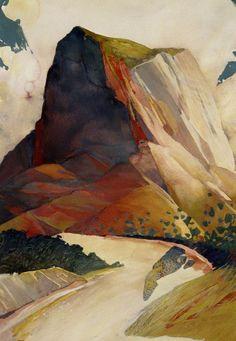 Badlands watercolor Randall David Tipton – Art By Innes Watercolor Landscape, Landscape Art, Watercolor Paintings, Landscape Paintings, Watercolors, Landscapes, Guache, Wow Art, Art Graphique