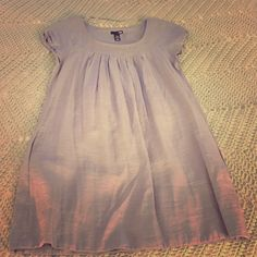 Shimmery Gray Tunic Super cute- AND has pockets!! If someone doesn't snag it soon, I am keeping it! H&M Dresses