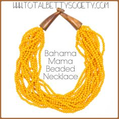 Bahama Mama Beaded Necklace  #yellow #beads #beaded #wood #bahamas #tropical #necklace #jewelry #shopping #gift #giftidea #womangiftidea #girlfriendgift #holidaygift #holiday #christmaspresent #present