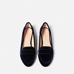 Image 3 of VELVET LOAFERS from Zara