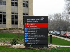 Spectrum Health signs by Valley City Sign