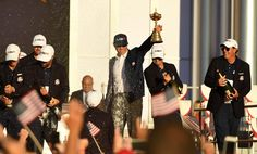 USA Ryder Cup Celebration | RyderCup.com Ryder Cup, Great Team, News Media, Captain Hat, Celebrities, Austria, Golf, Usa, Celebs