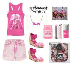 """""""Pink Star Wars!"""" by siriusfunbysheila1954 ❤ liked on Polyvore featuring River Island, Chaps, Christian Dior and Lime Crime"""