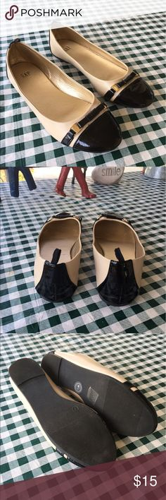 Gap Flats In good condition a place or two shows a crease on the inside other than that they are fine , nice soft outsole. Gap Shoes Flats & Loafers