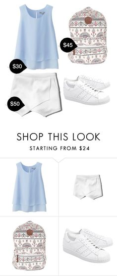 """""""My First Polyvore Outfit"""" by dhea-077 ❤ liked on Polyvore featuring Uniqlo, Abercrombie & Fitch, Billabong and adidas Originals"""