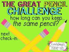 Ladybug's Teacher Files: The Great Pencil Challenge (managing pencils!) LOVE this idea!