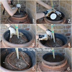 How To Run A Drip Line In A Flower Pot TwoThirtyFiveDesigns.com