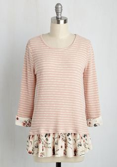 Swatch Shopping Top. Researching fabric samples for your latest design project, you reference the feminine motif of this pink top for inspiration. #red #modcloth