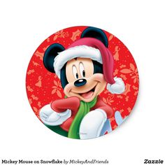 Mickey Mouse on Snowflake