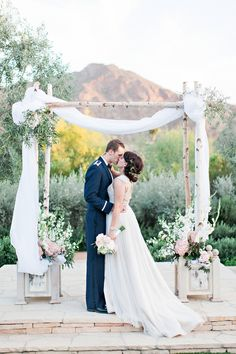 Ceremony arch, El chorro, Pinkerton Photography