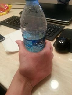 How do you feel about this harmless hand holding a Dasani?