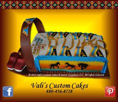 Navajo Cradleboard Cake - beautiful cake created for customer from Kayenta, AZ.  Chocolate cake w/ strawberry filling.   We enjoy doing business with customers who travel far to order their cakes from our company.  And likewise, we travel far to deliver cakes for festive celebrations, covering Phoenix metro and delivery range of approx. 400-mile radius to gratify our customers.  Aheh heh, nitsaa goh!!