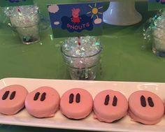 Genial idea para comida de una fiesta temática de Peppa Pig. #Peppapig #fiestadecumpleaños