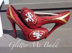 San Francisco 49ers Heels by Glitter Me Badd #49ers
