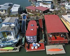 Houseboats, Sausalito, California by Michael Layefsky, via Flickr