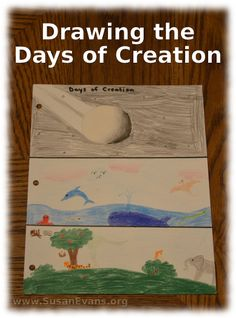 How to draw the days of creation - http://susanevans.org/blog/drawing-the-days-of-creation/