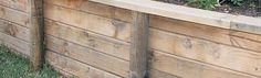 Build a Timber Retaining Wall