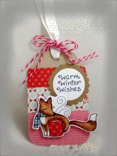 Winter Fox Tag by T. Joy - Cards and Paper Crafts at Splitcoaststampers