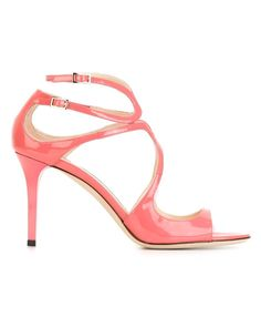 Jimmy Choo | Red 'ivette' Sandals | Lyst