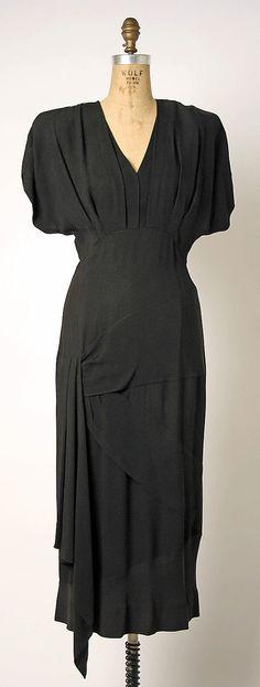 Dress, Gilbert Adrian  (American, 1903–1959)   Date: ca. 1942 Culture: American Medium: rayon