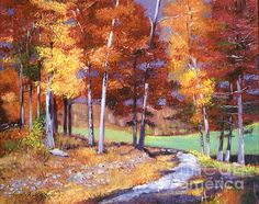 Country Club Fall - acrylic on canvas painting by David Lloyd Glover