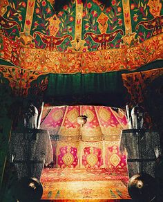 This ornate Ottoman tent, from the late 17th century, is among the hundred thousand said to have been left behind by the departing Turks when they lifted ...