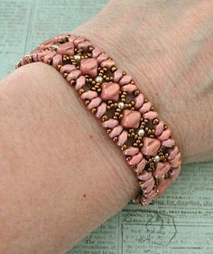 Linda's Crafty Inspirations: Bracelet of the Day: Mini Bridges - Ruby Luster