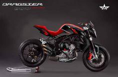 MV AGUSTA Dragster 800 Carbon Editon WOW! #Motorcycle #Rearsets #Estriberas