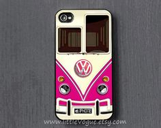 Red VOLKSWAGEN VW mini bus iPhone Case cover, iPhone 4 case, iPhone 4s case, iPhone 5, 5C, 5S case, iPod touch 4 case, ipod touch 5 case