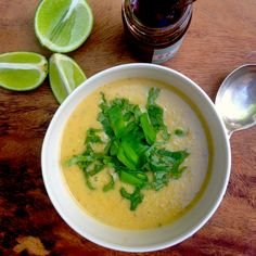 Aromatic and wonderful Thai red lentil soup adapted from Plenty More by Yotam Ottolenghi #vegan