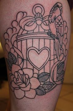birdcage tattoo | Tumblr