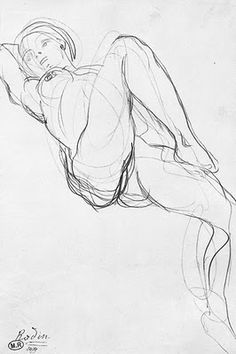 Rodin line drawing Gesture Drawing, Life Drawing, Drawing Sketches, Art Drawings, Drawing Models, Figure Drawings, Auguste Rodin, Figure Painting, Painting & Drawing