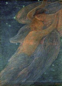 Gaetano Previati (1852-1920) - Triptych of the Day