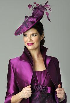 Mother Of The Bride Fascinator In Purple Design By Presen Wedding Hats Dresses