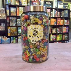 "The Board Room Game Cafe on Instagram: ""CONTEST TIME! It's the classic ""how many jelly beans in the jar"" game, but with DICE! You've got until noon on #InternationalTabletopDay…"""