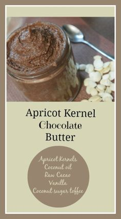 Apricot Kernel Chocolate Butter  (Apricot Kernels are amazing for health;delicious and nutritious)