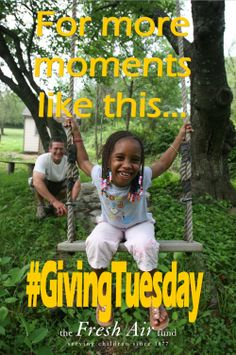 Join The Fresh Air Fund to celebrate @#GivingTuesday on December 3, 2013! #GivingTuesday