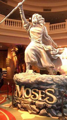 Statue of Moses in the lobby of Sight & Sound Theater in Strasburg, PA