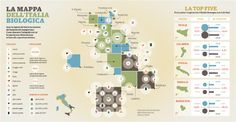 La mappa dell'Italia biologica creata da Matteo Riva, http://crockhaus.com/Agricoltura-biologica-in-Italia-Vita