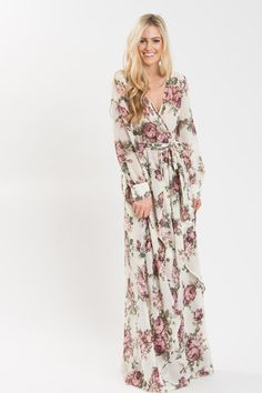 Floral Maxi Dresses, Women's Special Occasion Dresses, What to Wear for Valentine's Day, Flowy Dresses