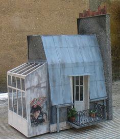 les toits de Paris avec verrière. Über den Dächern von Paris ... en miniature
