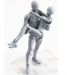 66.99$  Watch here - http://aliehx.worldwells.pw/go.php?t=32732366558 - Body-Kun DX & Body-Chan DX Grey Color Ver. Set Action PVC Figure New In Box