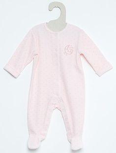 e87926a066afe Pyjama en velours rose pâle Bébé fille - Kiabi Pyjama Bébé Fille