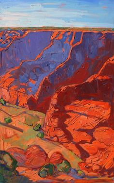 Canyon de Chelly triptych oil painting by Erin Hanson - Panel 3