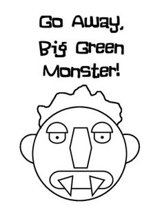 """After listening to Ed Emberley's book """"Go Away, Big Green Monster,"""" students get their own printable copy which they add construction paper pieces to in order to make the monster in the book! Great for Letter M or to talk about COLORS."""